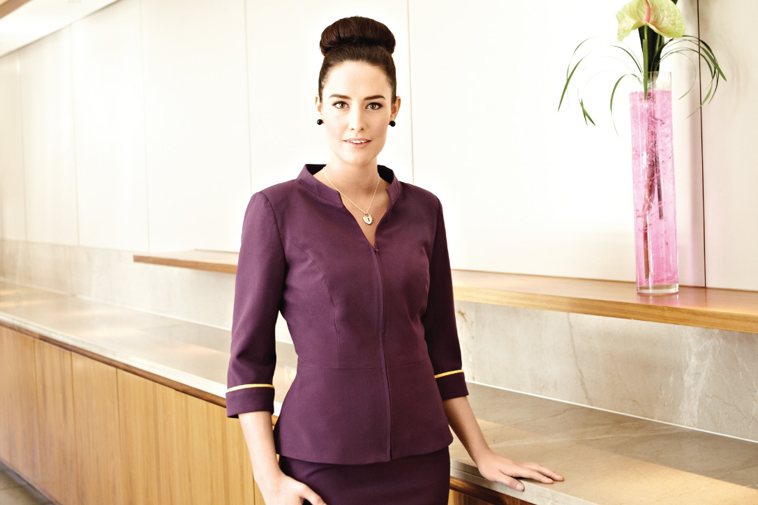 Decleor staff uniforms workwear by jsd for White spa uniform uk