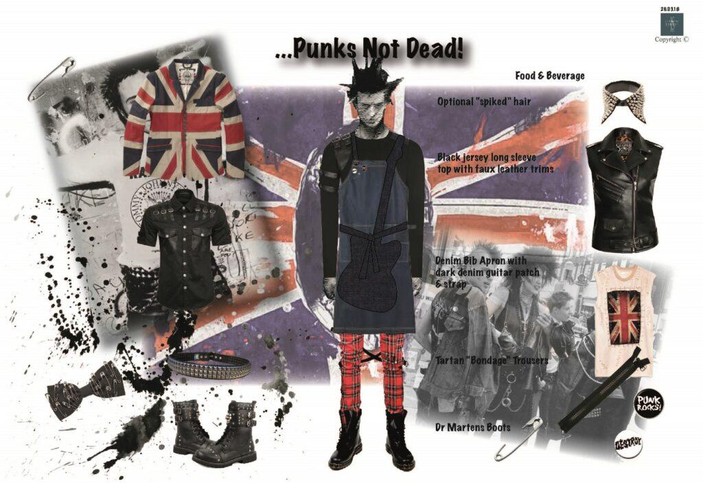 Punk Themed Waiting Staff Uniform