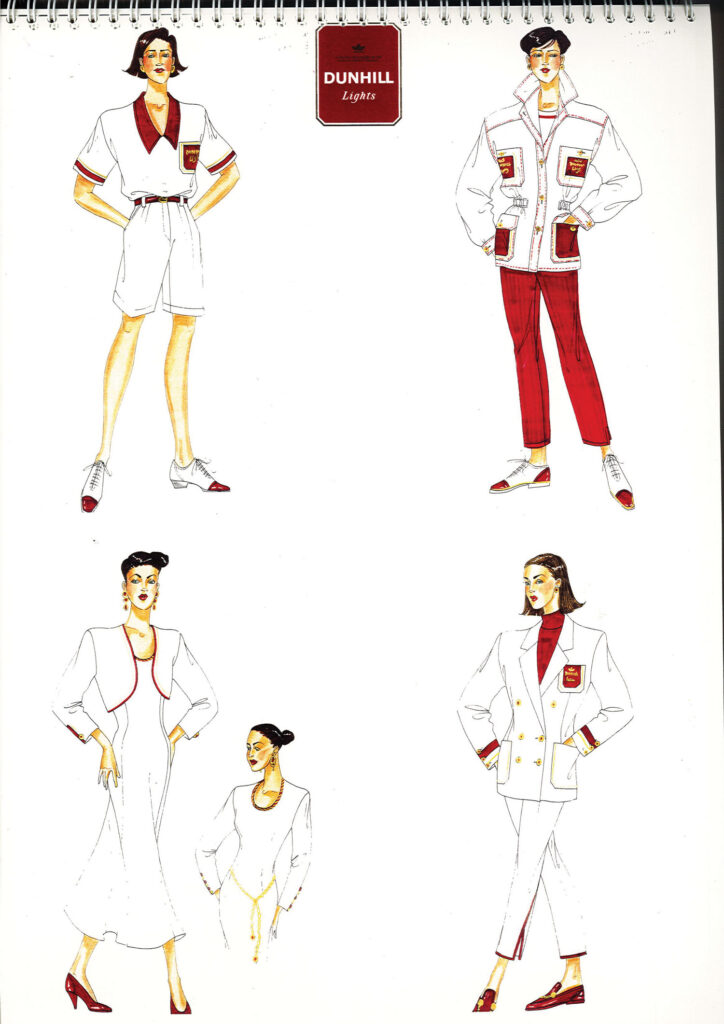 Dunhill Uniform Design Sketches from the 80s