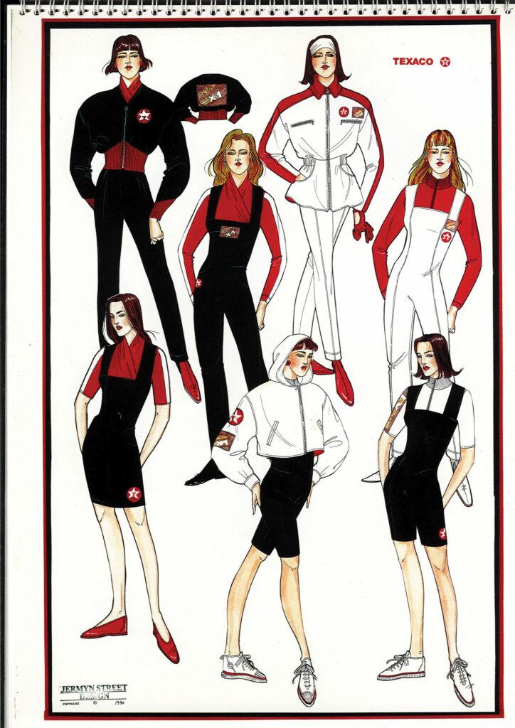 Texaco Uniform Design Sketches