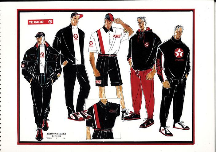 Texaco Uniform Designs From 1980s